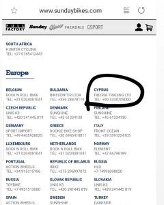 Official Cyprus Distro of @sundaybikes ! #bmx #cyprusbmx #sundaybikes